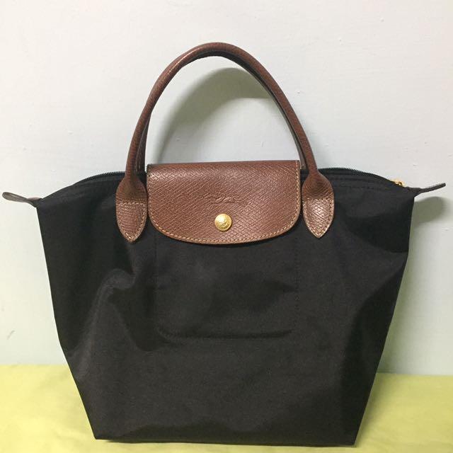 Longchamp黑色s號包包
