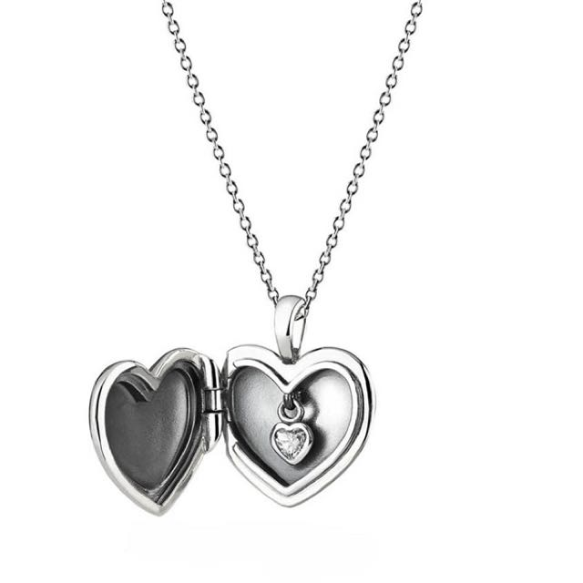 Love locket pendant necklace clear cz item no 390355cz preloved photo photo photo photo photo aloadofball Images