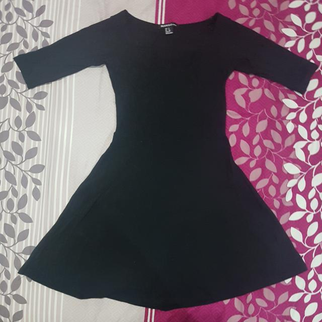 MANGO Black 3/4s Dress