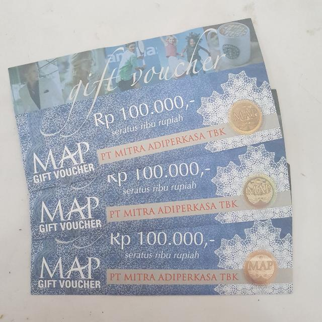 M.A.P Gift Voucher 100.000, Tickets & Vouchers, Gift Cards & Vouchers on Carousell