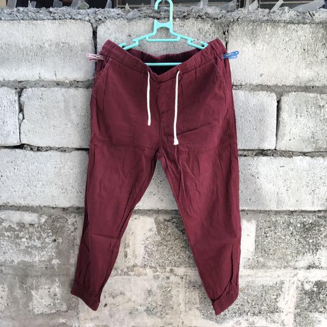 Maroon Jogger Pants