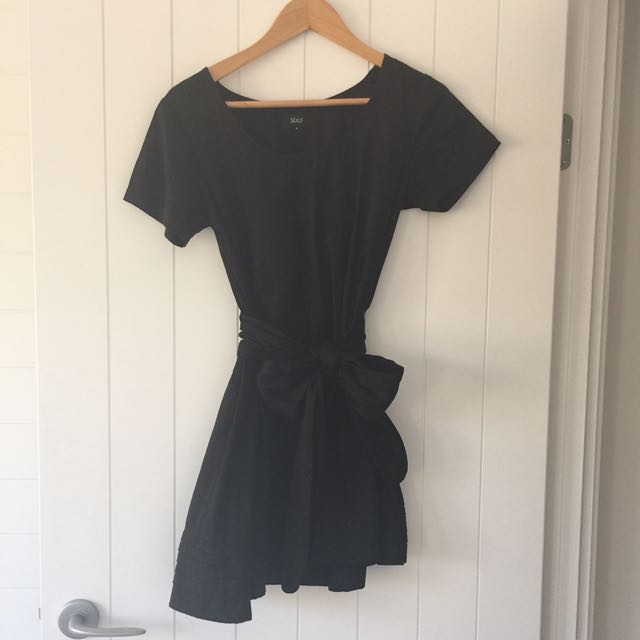 May Tie Mini Dress