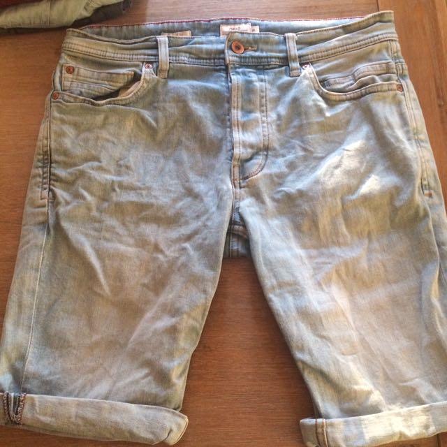 Men's Light Blue Jeans Shorts
