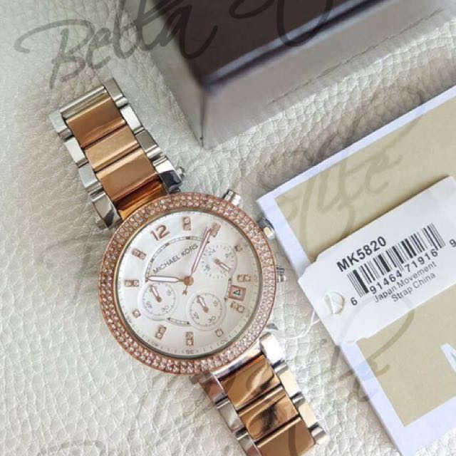 70e896223cfc Michael Kors Parker Two-tone Stainless Steel Watch
