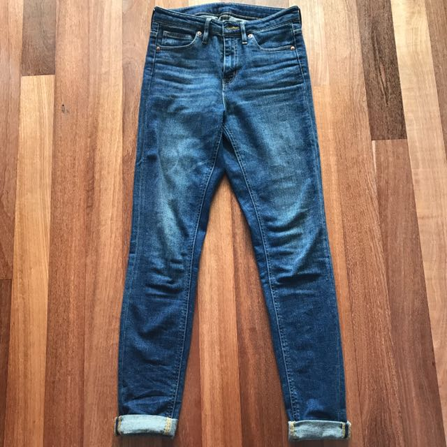 Muji High Waisted Cropped Jeans Size 26