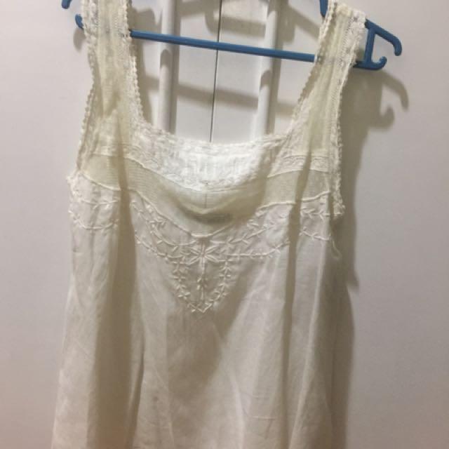 New Zara Ivory Too Size M