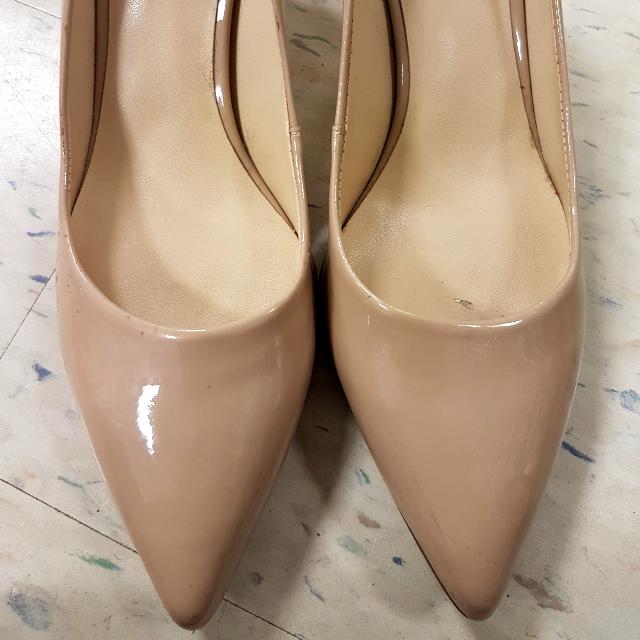 Nine West Nude Leather Shoes Size Size 8
