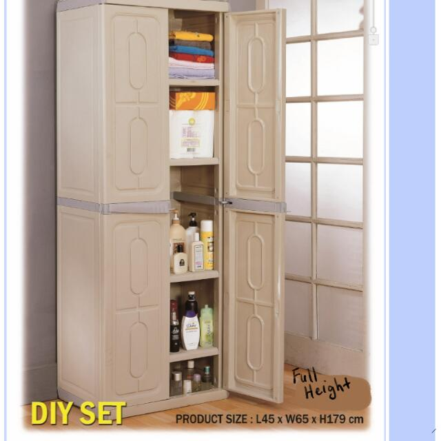 Free Delivery Plastic Cabinet Full Height Low Height Outdoor