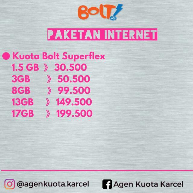 Paket / Kuota Internet Bolt Termurah
