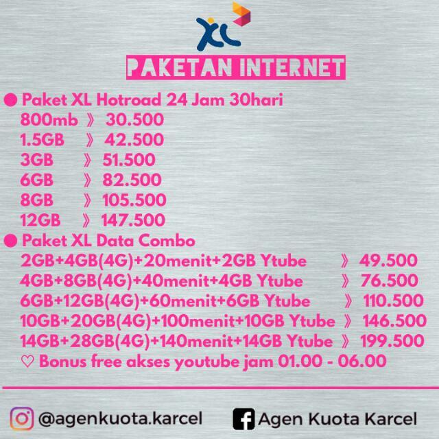 Paket Internet XL / XL Combo Kuota