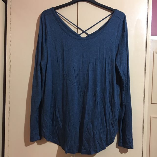 Plus-Size Forever 21 Blue Long Sleeves 2X