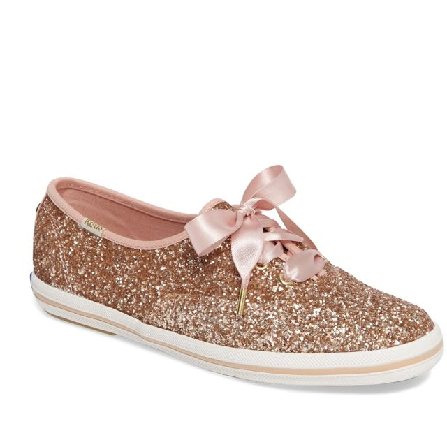 ca923ae8a889 PO) Keds X KATE SPADE NEW YORK CHAMPION GLITTER in Rose gold glitter ...