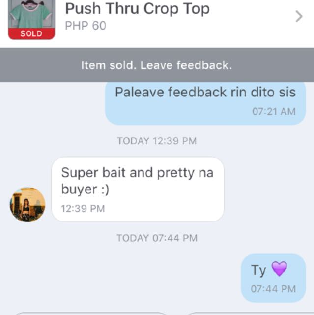 Positive Feedback From The Seller!☺️