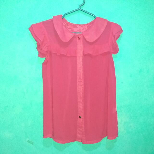 Preloved Chiffon Blouse