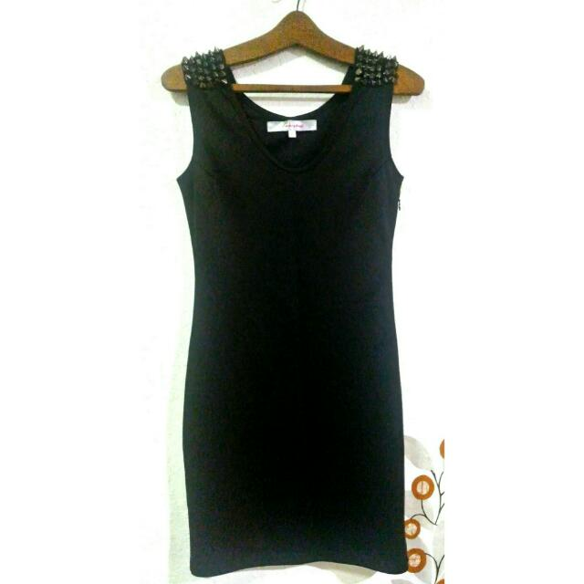 New PRP Stud Little Black Dress