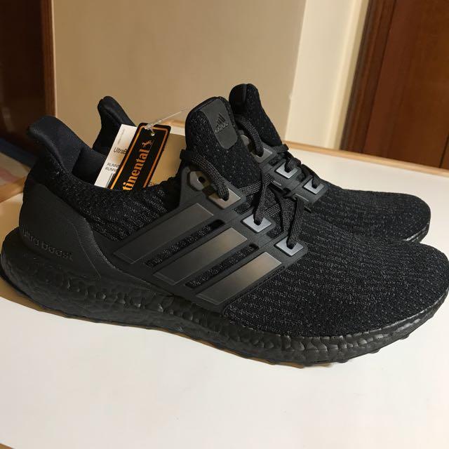 ad868e5f37464 Rare Adidas Ultraboost 3.0 (black grey) BA8923 10.5US