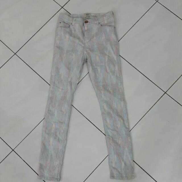 River Island Pastel Tribal Print Jeans