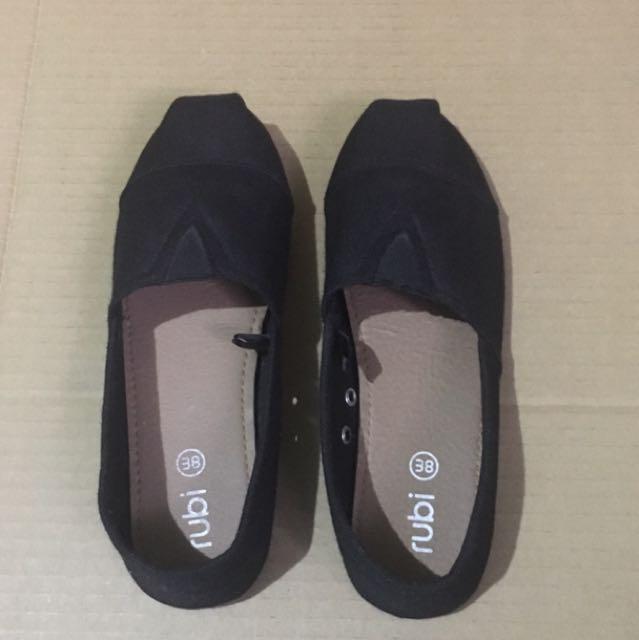 Rubi Black Slip Ons