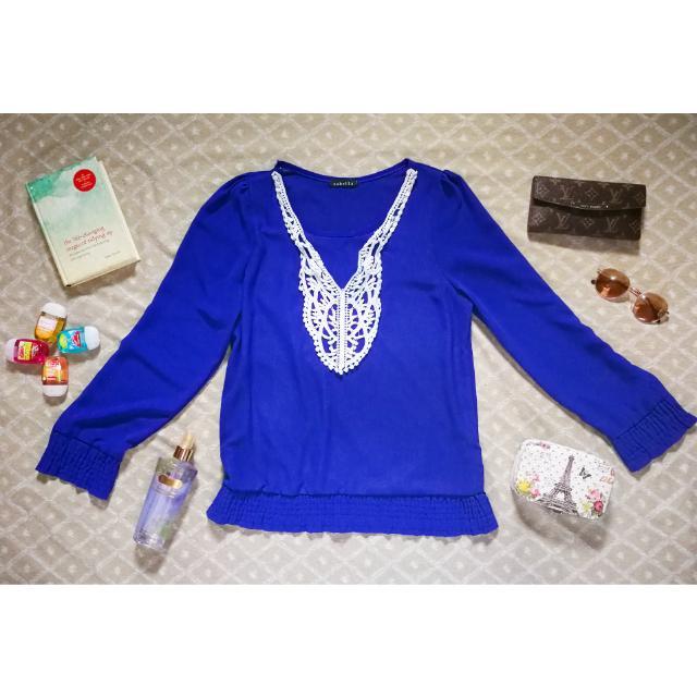 Sabella Blue Silk Blouse