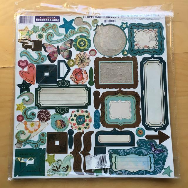 Scrapbooking Chipboard Embellishments
