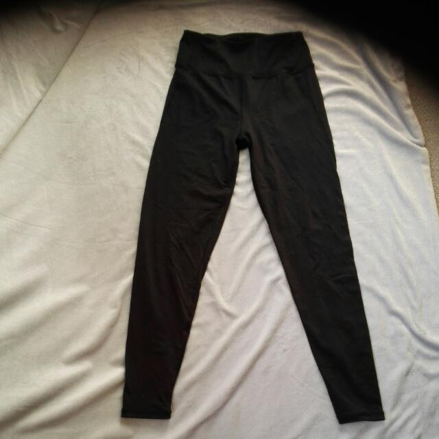 Size Xs 7/8 Black Gym Tights