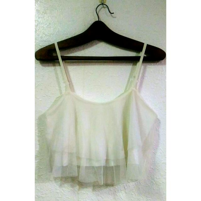 Soft Tulle Crop Top