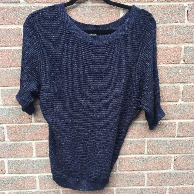 Sparkly Dark Blue Sweater