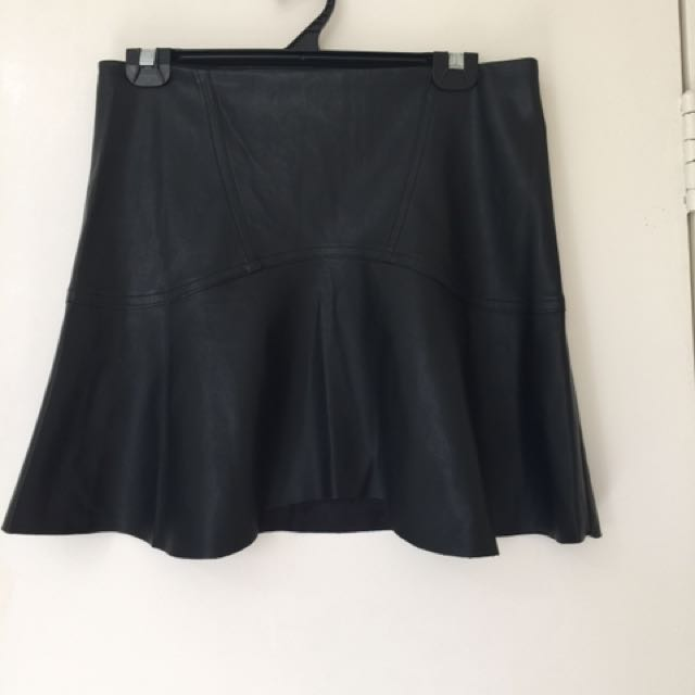 Sportsgirl Leather Look Skirt