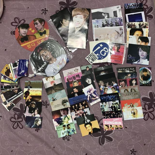 Super Junior ELF 製作小卡、小海報、扇子應援物福袋 #七月免購物直接送