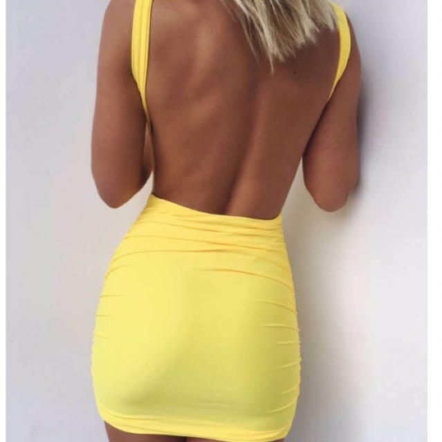 Tigermist Brand Baywatch yellow Dress Size M