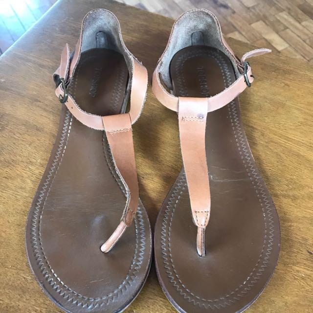 Top shop Sandals In Tan