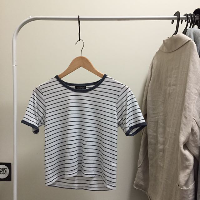 Topshop's Striped Cropped Top