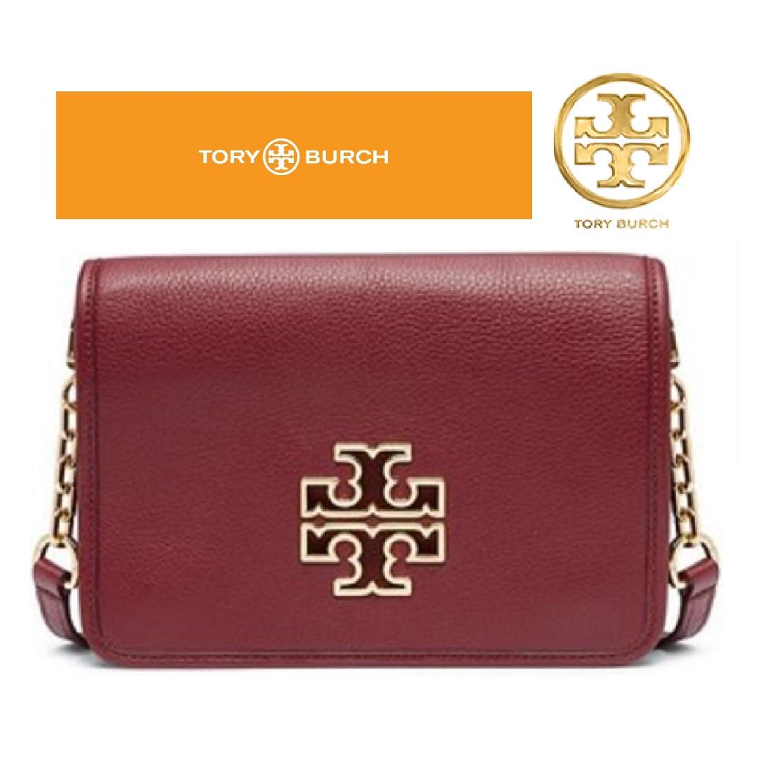 2ab8e7c04d3 TORY BURCH Britten Combo Crossbody Bag Burgundy