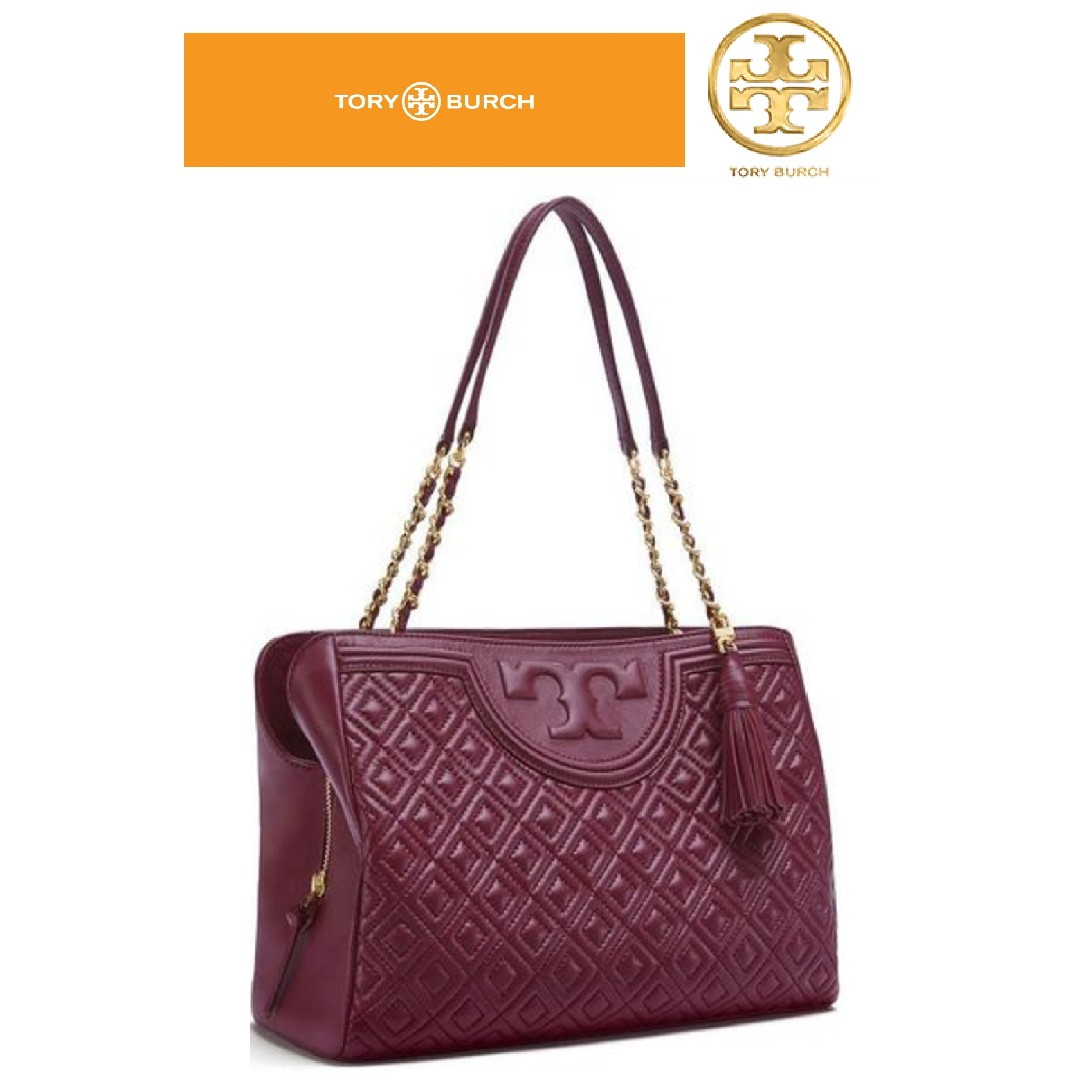 656b6800da9 TORY BURCH Fleming Open Shoulder Bag In Red Quilted Leather