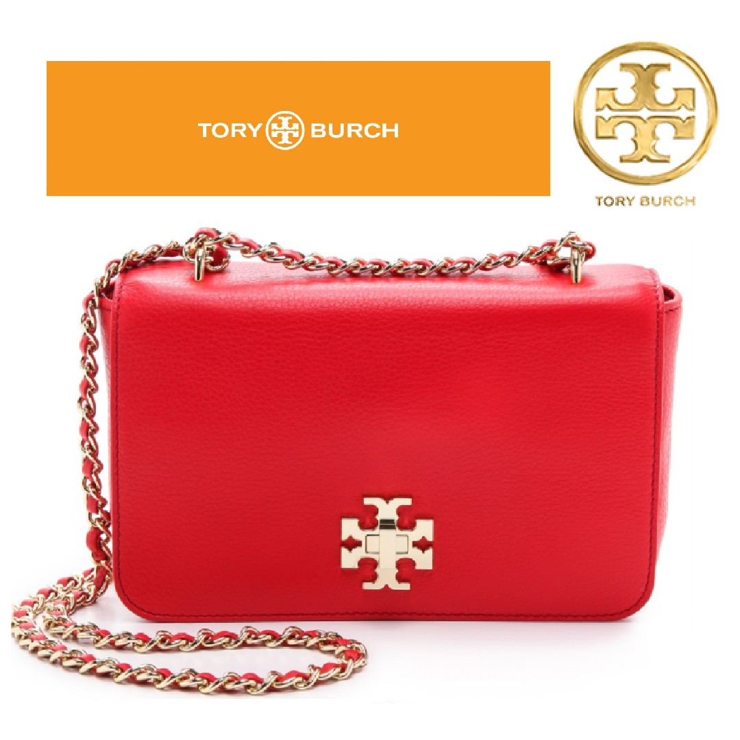 c769065e2 TORY BURCH Mercer Adjustable Shoulder Bag Red Pepper