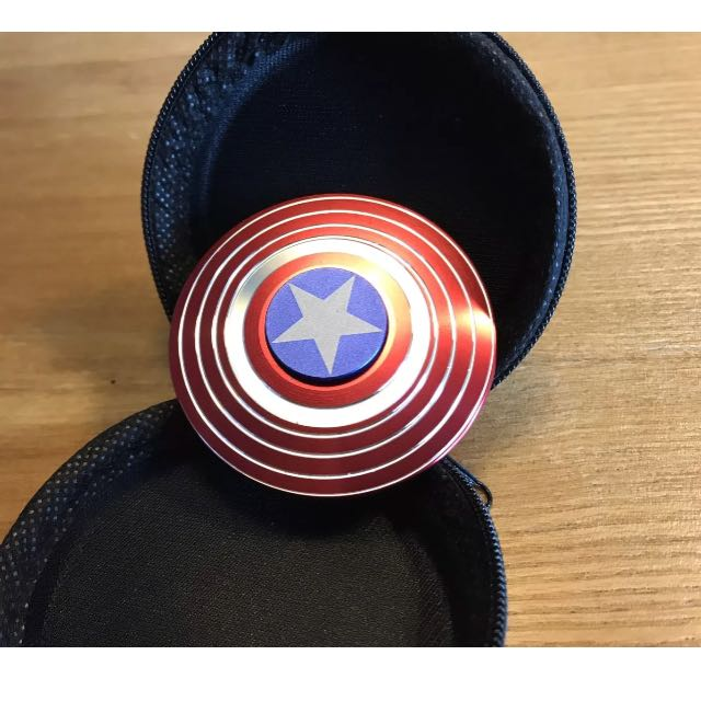 Tri Spinner Alloy Captain American Hand Spinner EDC Pocket Anti Stress Gift