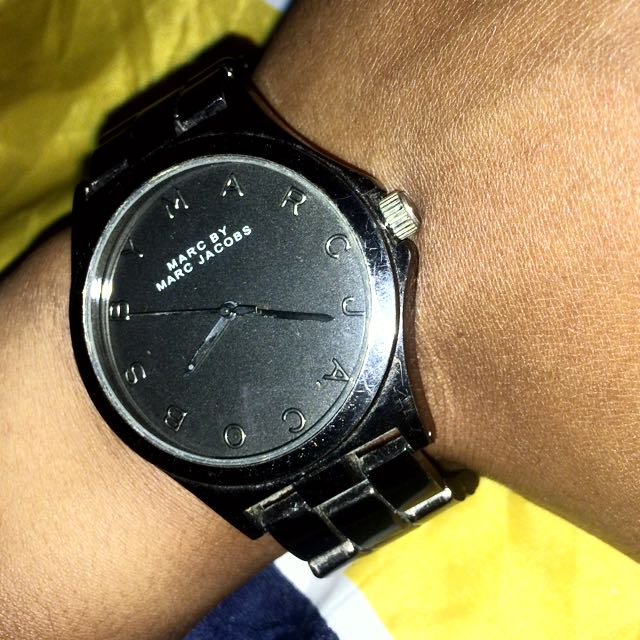 Used Auth Marc by Marc Jacobs Black Stainless Steel Unisex Watch