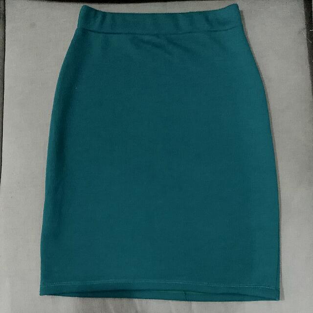 Viridian Pencil Skirt