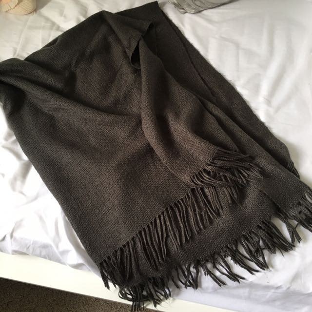 West Elm Grey Throw Blanket