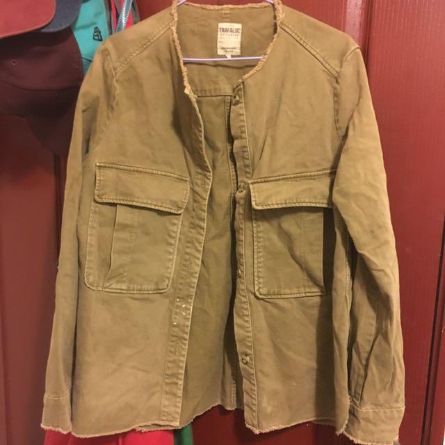 Zara 軍綠外套