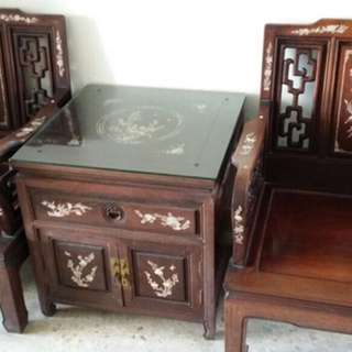 Antique Redwood Furniture Set