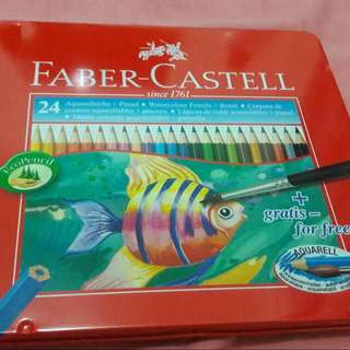 Faber-Castell 24 Watercolour Pencils + free brush