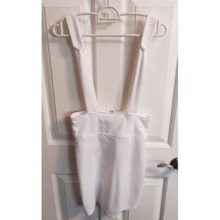 White mini skirt one-piece