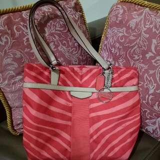 Original Coach Shoulder Bag In Zebra Orange