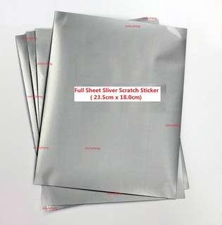 Full Sheet Sliver Scratch Sticker ( 23.5cm x 18.0cm)