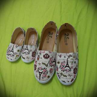 Mother Daughter Couple Shoes