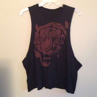 Brandy Melville Tiger Muscle Tank