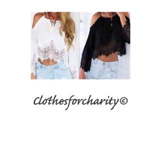 FREE POSTAGE lace Shirts $10.00 Each