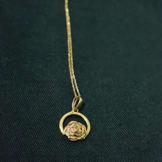Authentic 18k Gold Rose Necklace