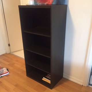 Black Deep Bookshelf